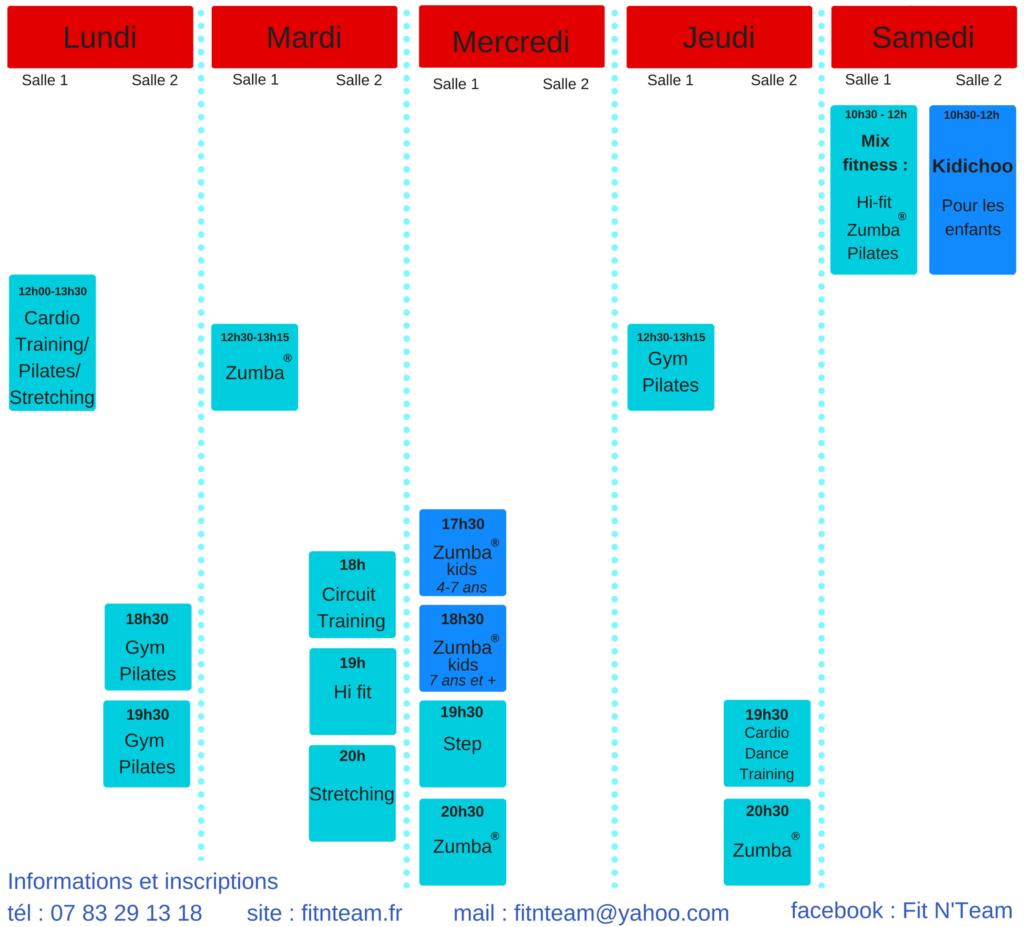 Planning 2017-2018 Fit N'Team